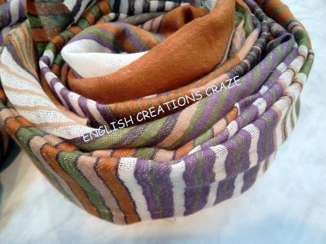 Wool Cotton Modal woven scarves  EC-6660 B