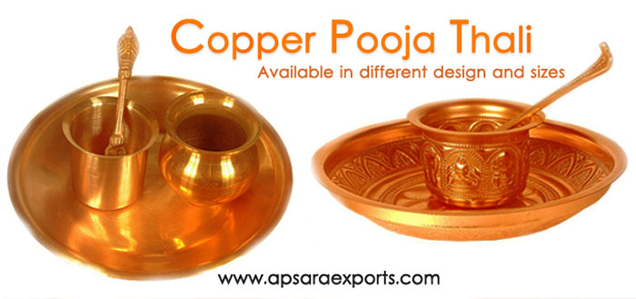 Hindu Religious Items,Incense Holder Exporters,Copper Puja Thali