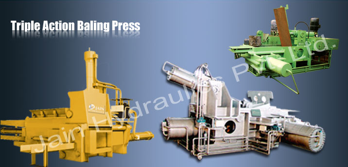triple action baling press