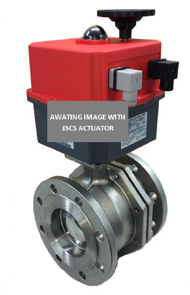 Electric Stainless Steel 2 Way Firesafe Flanged PN16 Ball Valve