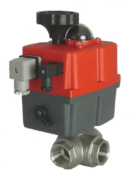 Electric Stainless Steel 3 Way Screwed Ball Valve