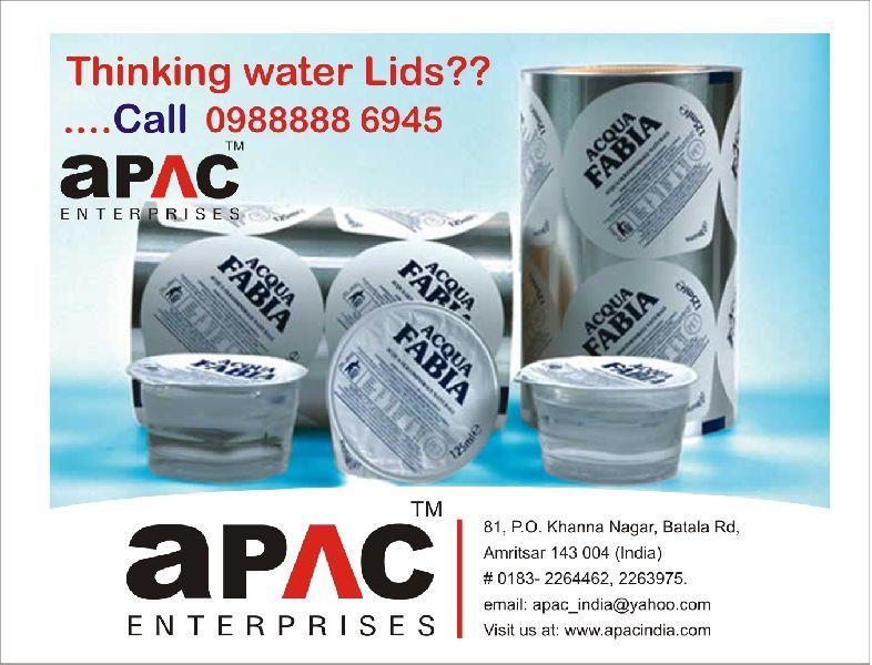 Aluminum Paper Water Lids