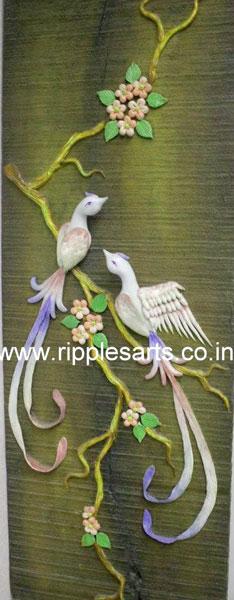 Chinese Birds Porcelain Mural
