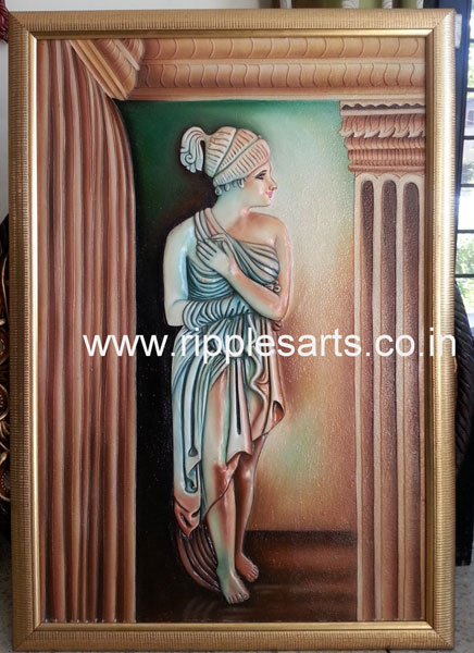 Greek Lady 3D Painting