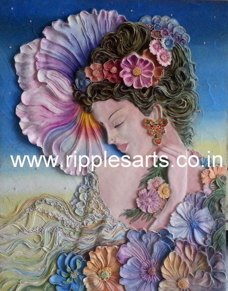 Lady Floral Dress Mural Mural Painting