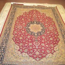 Wool Silk Carpet (7.4x5)