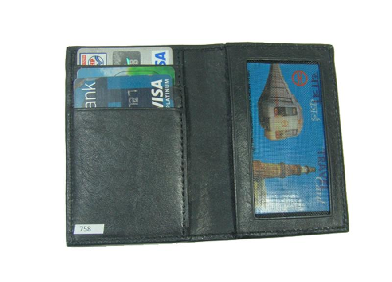 Leather Card Case (CH-758-Black (2))