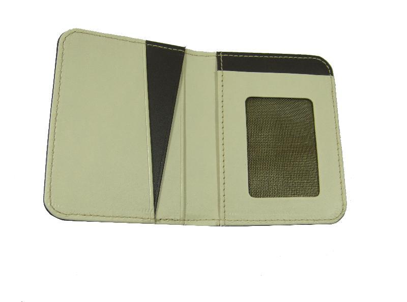 Leather Card Case  (CH-760-Brown-Cream (2))