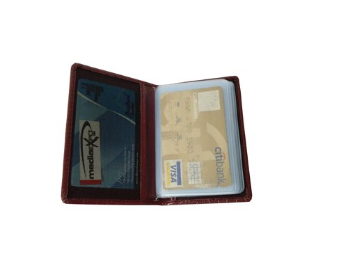 Leather Card Case (CH-772-Maroon)