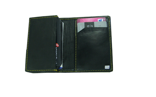 Leather Card Case (CH-773-Black)