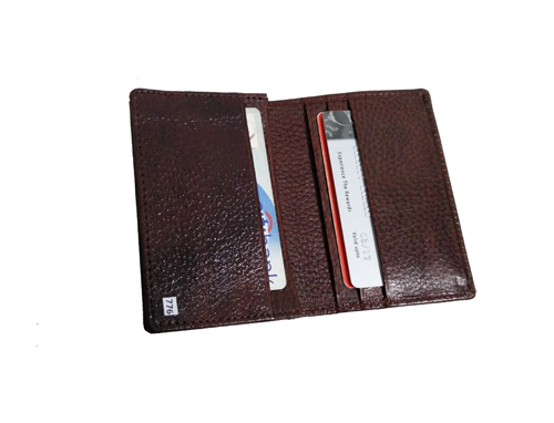 Leather Card Case (CH-776-Maroon (2))
