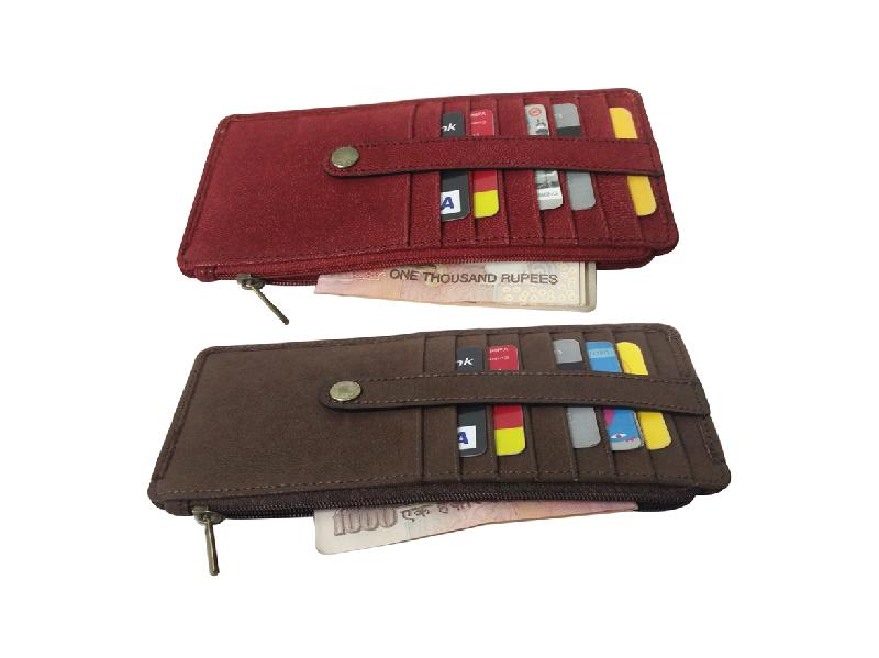 Leather Card Case (CH-778-Maroon-Brown)