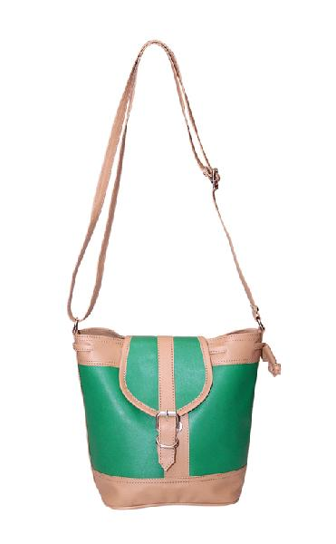 Ladies Hand Bag (71174-Green)