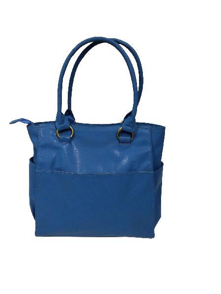 Ladies Hand Bag (71178-Blue)