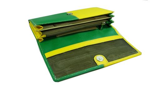Ladies Wallet (LW-1844-Green Yellow)