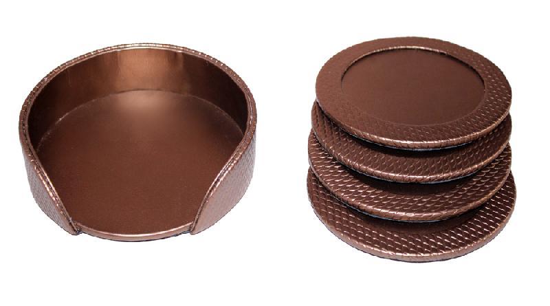 Leather Coaster Set (1-Golden)