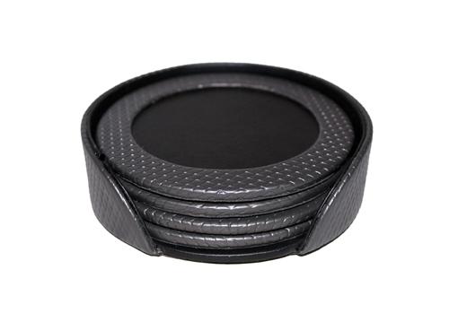 Leather Coaster Set (1-Grey)
