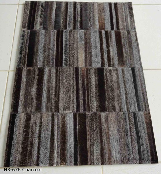 AM-791 Leather Hair On Carpet-Charcola