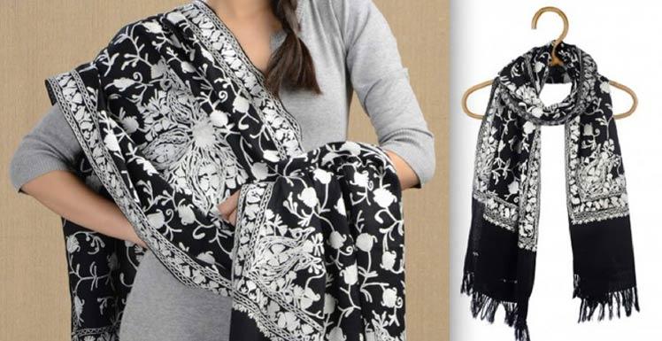 Embroidered Woolen Shawl