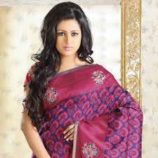 Embroidered Pashmina Saree