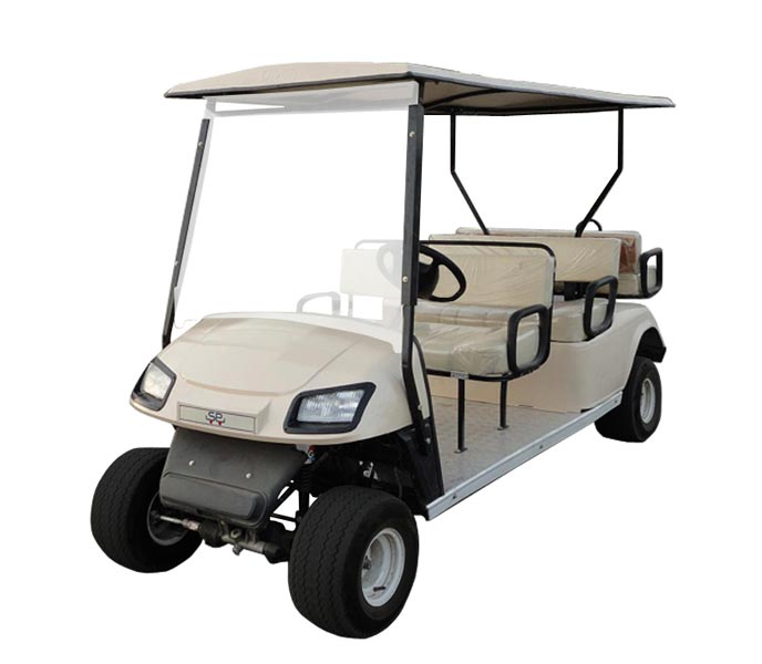 6 Seater (4 Front + 2 Back) Golf Cart