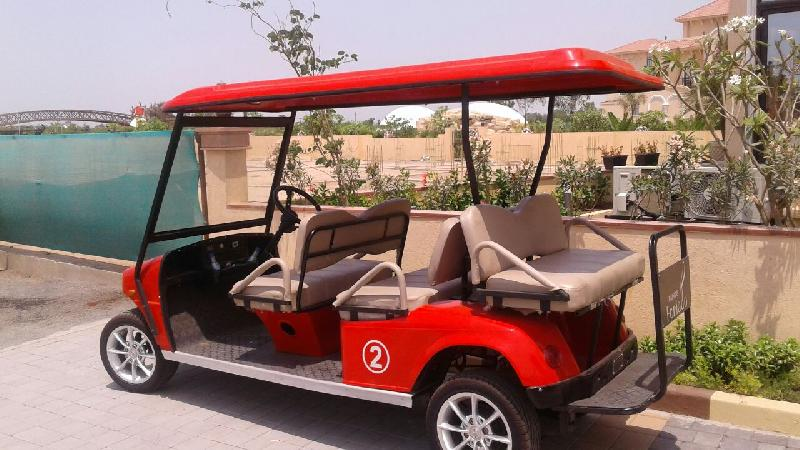 Side View 6 Seater (4 Front + 2 Back) Golf Cart