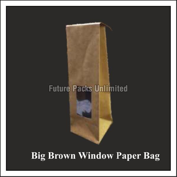 Big Brown Window Paper Bags