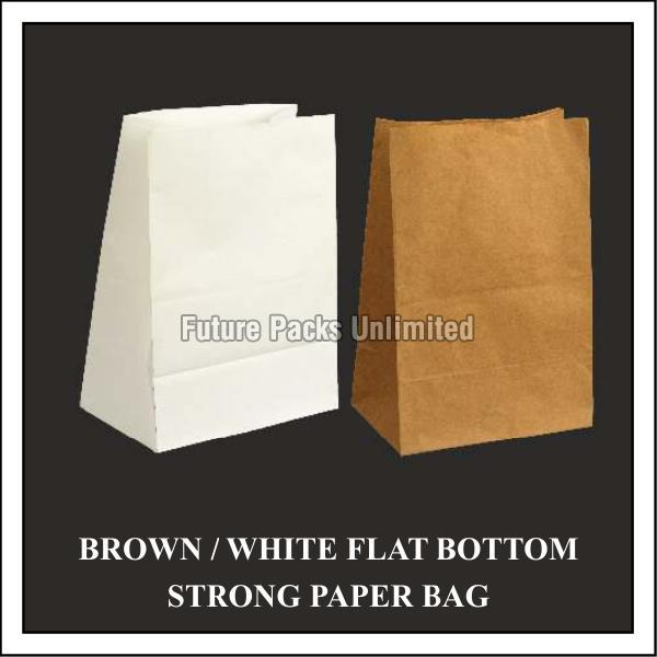 Flat Bottom Strong Paper Bags