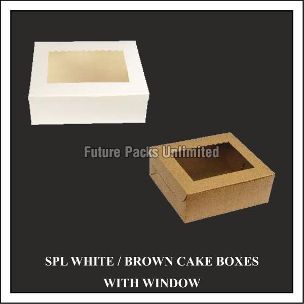 Special White And Brown Box With Window