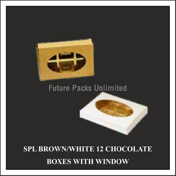 Special White & Brown Choclate Box With Window 03