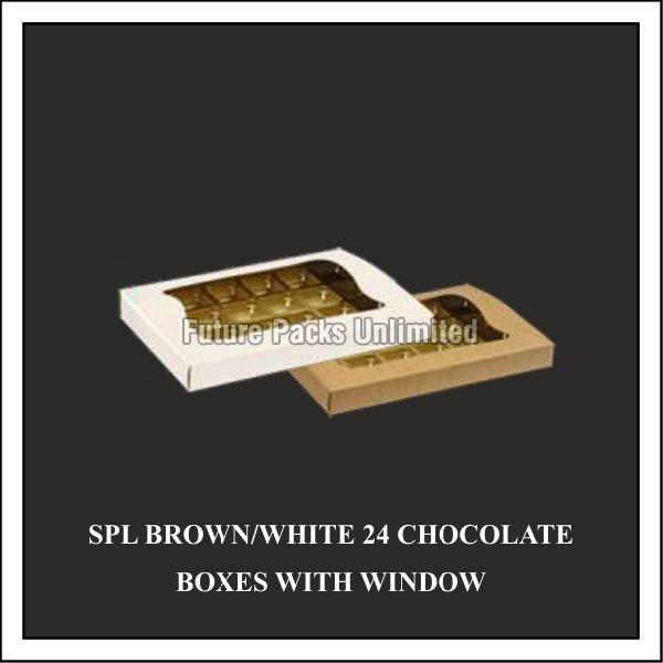 Special White & Brown Choclate Box With Window 04