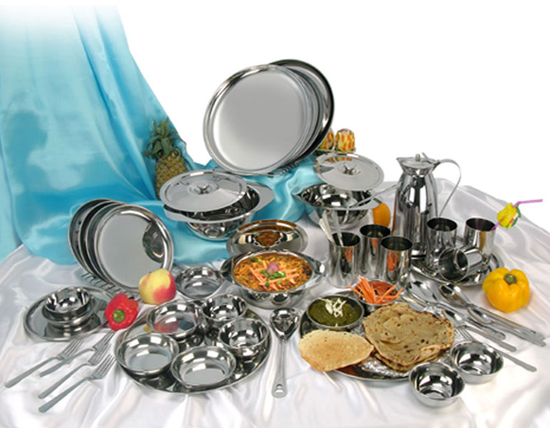 51 Piece Stainless Steel Dinner Set