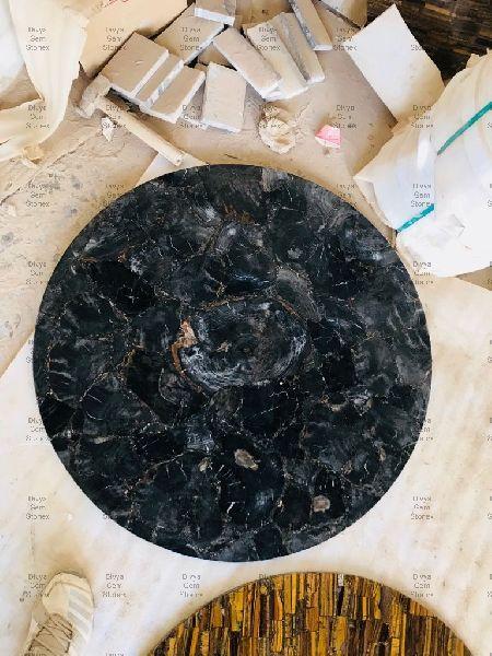Black Petrified Wood Table Top
