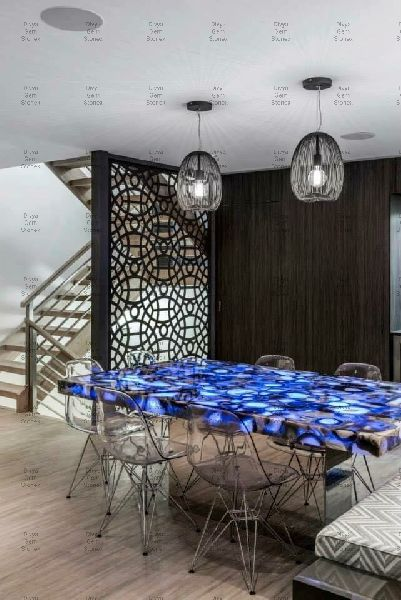 Blue Agate Dining Table Top