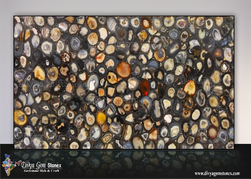 Brazilian Black Agate Slab
