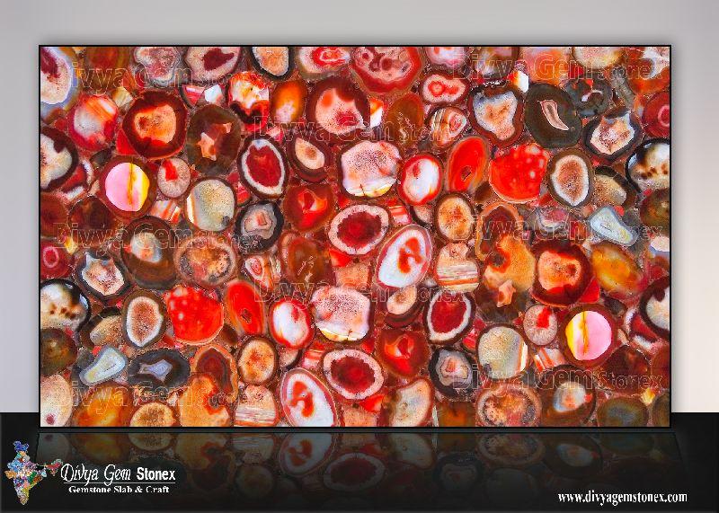 Brazilian Red Agate Slab