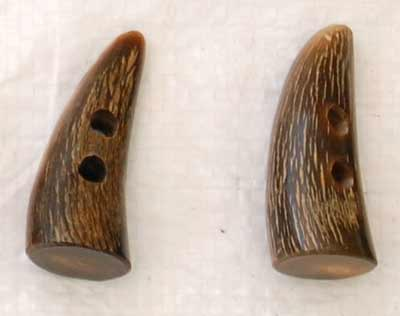 Buffalo Horn Button 09