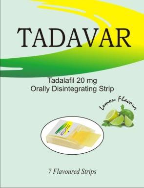 Tadavar Oral Strips 20mg