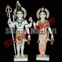 Marble Shiva Parvati Statue Marble Gauri Shanker Statue