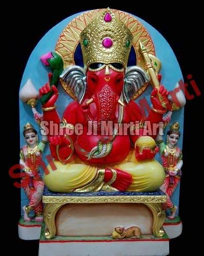Red Marble Ganesh Statue Red Marble Ganesha Statue Ganesh