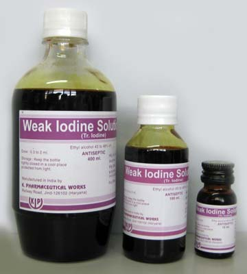 Weak Iodine Solution IP.66