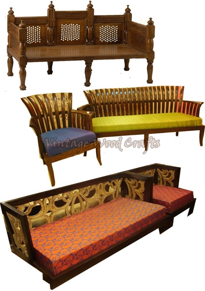 Wooden Sofas Contemporary Sofa French Suppliers Rh Vintagewoodcrafts Com Indian Style Design