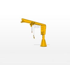 Pillar Shaped Jib Crane