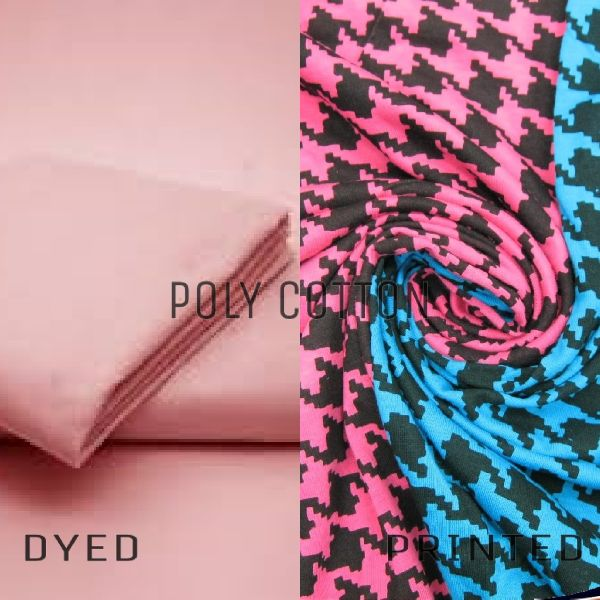 Polyester Cotton Dyed And Printed Fabric