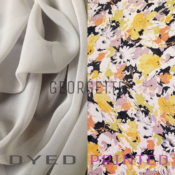 Polyester Georgette Dyed And Printed Fabric