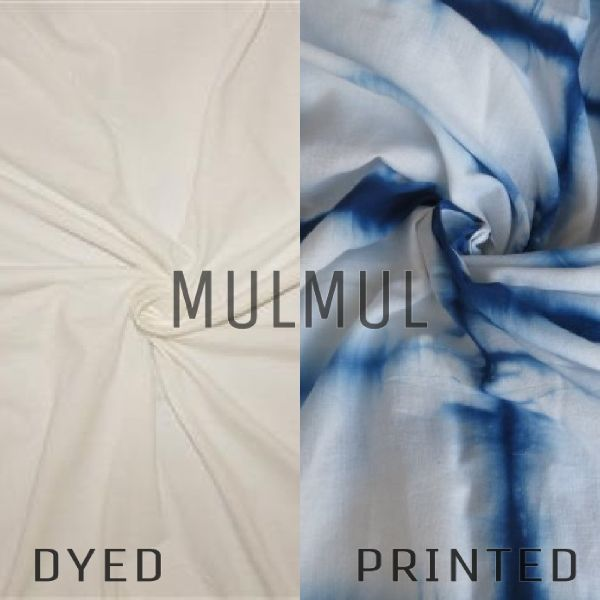 Polyester Mulmul Dyed And Printed Fabric