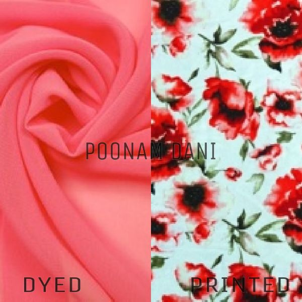 Polyester Poonam Dani Dyed And Printed Fabric
