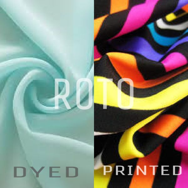 Polyester Roto Dyed And Printed Fabric