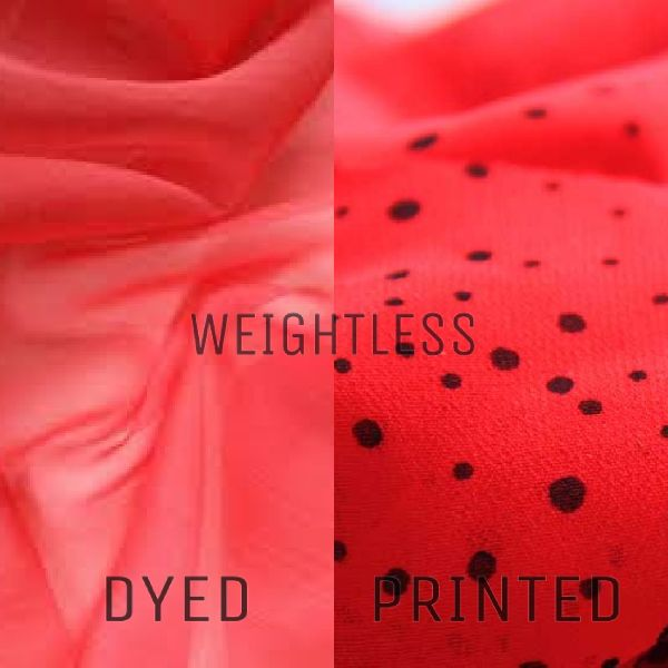 Polyester Weightless Dyed And Printed Fabric