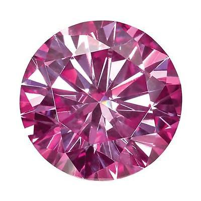 Round Brilliant Cut Pink Moissanite Diamond